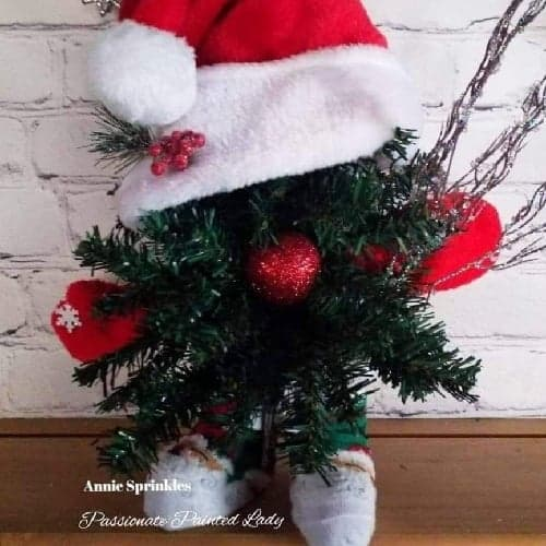 Christmas Gnome using Dollar tree products